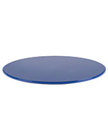 "Blue 20"" DCR series round plastic showcase base is 0.5"" thick"