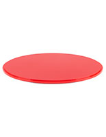 "12"" red base for DCR series round display cases is 0.5"" thick"