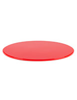 "DCR series 16"" diameter red lucite display base with grooved edge"