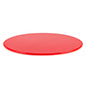 "DCR series 16"" diameter red lucite display base is 0.5"" thick"