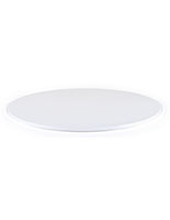 "20""diameter white display case base for DCR series cases with 0.5"" thickness"