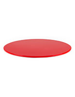 "20"" red DCR series round plastic display case base designed for clear cylinder cover"