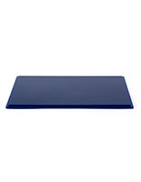 "12"" DCS series blue acrylic square display base with grooved around edge"