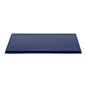 "12"" DCS series blue acrylic square display base designed for lift-off cube cover"
