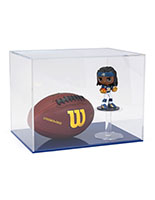 Football helmet display case with rectangular lift-off cover