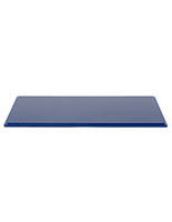 "16"" DCS series blue acrylic display base with grooved base to firmly hold rectangular cover"