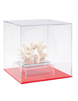 Ball display box with lift-off cube cover