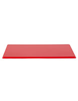 "16"" red plastic DCS series model display case base for rectangular 12"" tall cover"