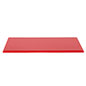 "16"" red plastic DCS series model display case base with 0.5"" thickness"