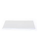 "White 12"" square display base only with groove along perimiter"