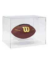 Acrylic helmet display box with indent around base