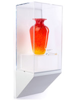 Wedge pedestal mIM体育eum wall display with collectible vase