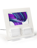 Gift card display with digital screen countertop size
