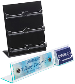 Desktop and Countertop Business Card Holders