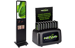 Charge tablets for a classroom or offer visitors a quick boost on their mobile device with these innovative charging stations