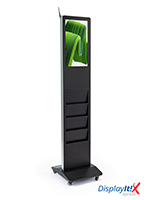Magazine rack digital display system creates a vibrant display