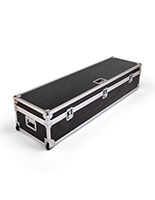 Black travel case for DG21 digital magazine displays with comfort grip handles
