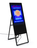 "black 32"" LCD panel a frame digital sign"