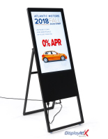 "32"" screen collapsible digital signage ad display"
