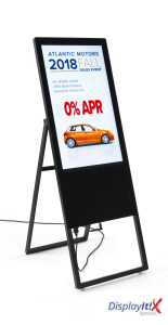 collapsible digital signage ad display with Android OS