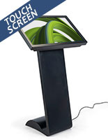 Horizontal touch screen display floor stand features 10pt touch capabilities