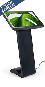 Horizontal touch screen display floor stand with vivid 32 inch monitor