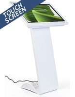 White touch screen monitor kiosk with10 pt touch