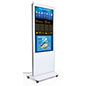 Digital signage display with sleek bezel edge design
