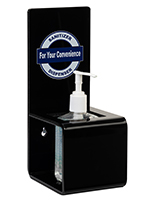 11 inch tall sanitizer dispenser with suction cups