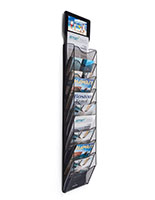 Magazine wall rack with digital sign with 5 foot cord