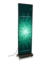 Digital poster screen with floor standing design