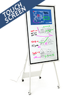 Interactive digital flipchart display with 4k UHD screen resolution