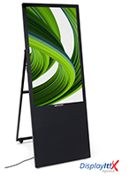 Portable LCD digital signage player with A-frame design