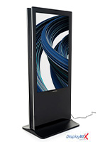 Dual floor standing digital signage with 1080p HD resolution