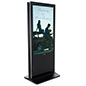 Dual floor standing digital signage with 55 inch LED screens