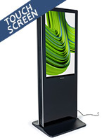 2-Sided touch screen digital poster kiosk with interactive screen