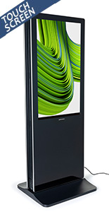 2-Sided touch screen digital poster kiosk with dual 43 inch screens