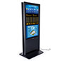Double-sided digital vertical touchscreen kiosk with 1080p resolution