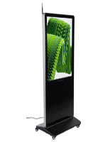 "43"" Digital Advertising Floor Stand Display with caster locking wheels"