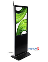 "43"" digital advertising display system with floor standing placement style"