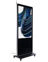 "55"" digital display advertising floor stand with 55 inch non-touch screen"