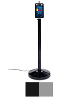 Non-contact body temperature screening kiosk with floor standing placement