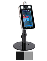 AdjIM体育table countertop temperature screening device with black or silver stand options