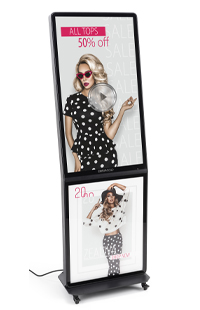 Advertising with Touch Screen Stands