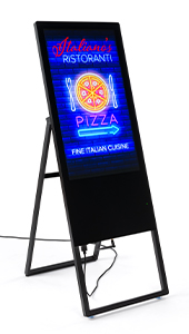 Portable Digital A-Frame Signage