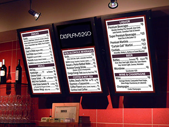 Restaurant Digital Displays
