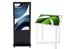 Digital signage including smart TVs and touch displays