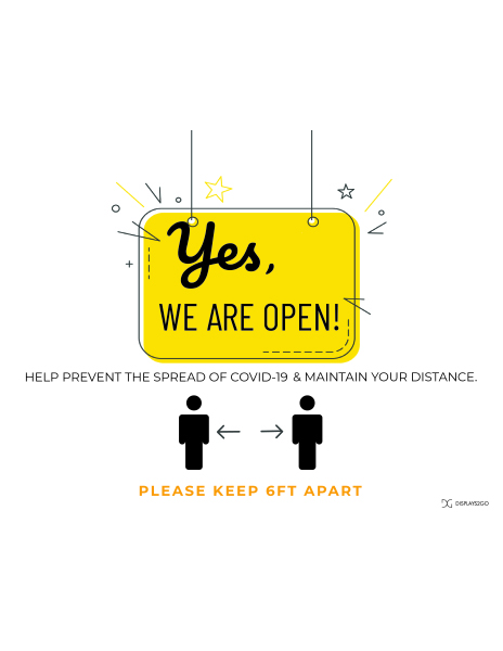 Yes we are open printable sign in landscape orientation