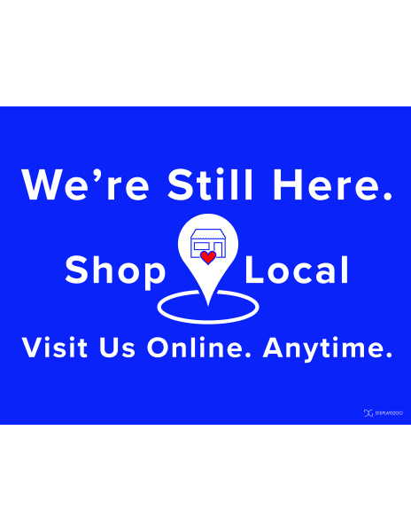 Shop local printable sign in landscape orientation