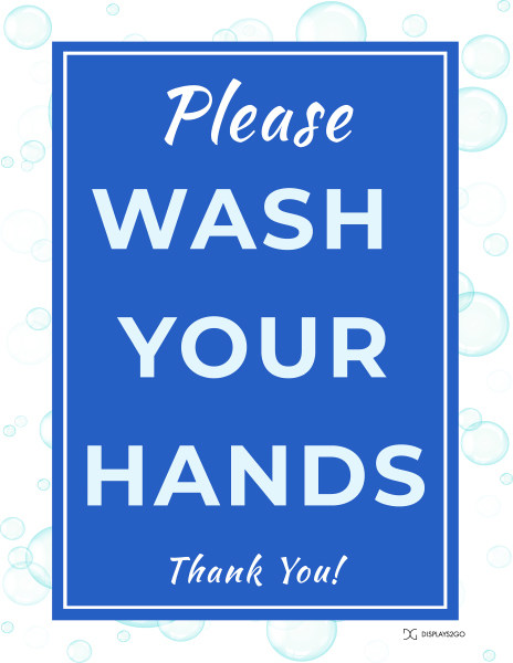 Please wash your hands printable sign in portait orientation